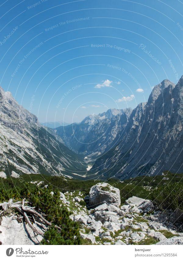 Reintal Himmel Natur Pflanze blau grün Sommer Baum Landschaft Wolken Berge u. Gebirge Umwelt grau Felsen Luft wandern Lebensfreude