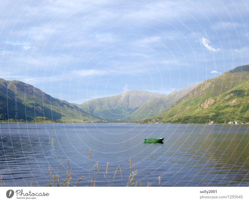 Ruheplatz... Natur Ferien & Urlaub & Reisen Sommer Erholung Einsamkeit ruhig Wolken Ferne Berge u. Gebirge Umwelt Gras natürlich klein Freiheit See Horizont