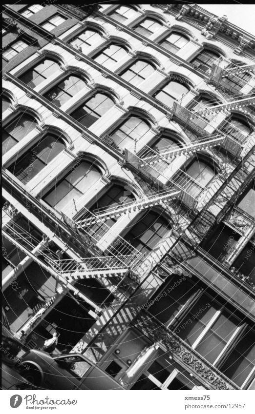 feuerleiter Fenster Architektur Fassade Backstein Leiter Feuerleiter Soho
