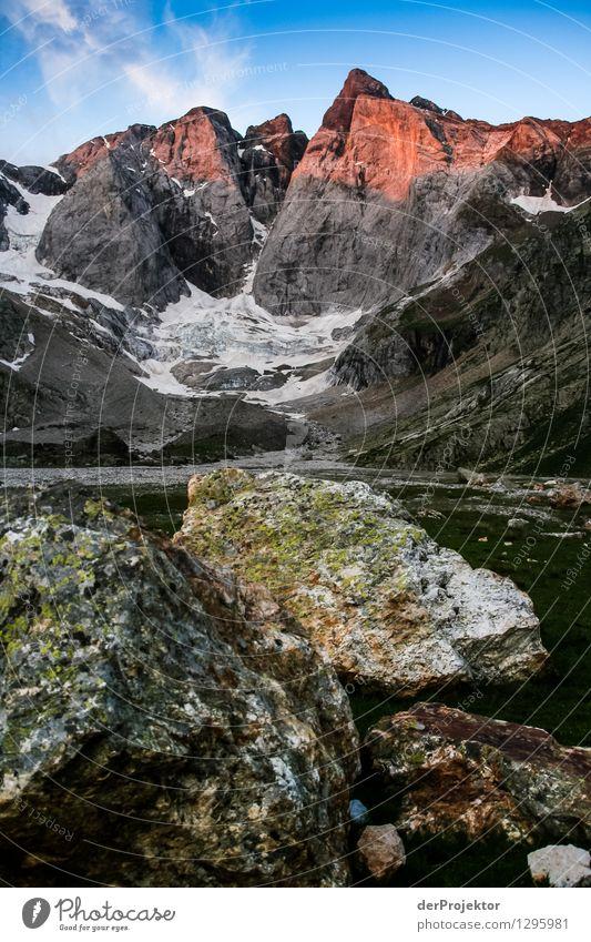 Verfärbung am Morgen Ferien & Urlaub & Reisen Tourismus Ausflug Abenteuer Ferne Freiheit Camping Berge u. Gebirge wandern Umwelt Natur Landschaft Pflanze Tier
