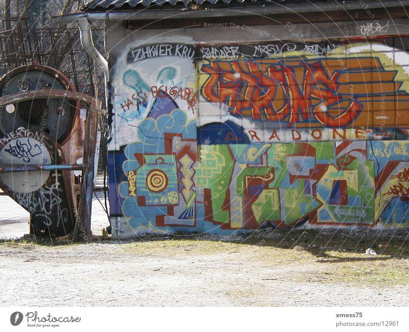 wandmalerei Farbe Architektur Tagger