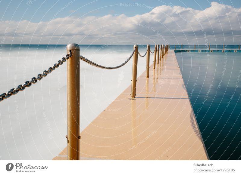 Pool ich Natur Ferien & Urlaub & Reisen Stadt Wasser Landschaft Wolken Strand Küste Gesundheit Freiheit Schwimmen & Baden Stimmung Design elegant Wellen