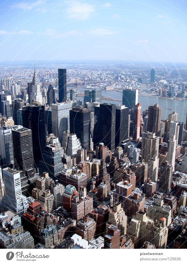 NEW YORK New York City Stadt Beton Haus Architektur Gebäude Grau blau Schönes Wetter