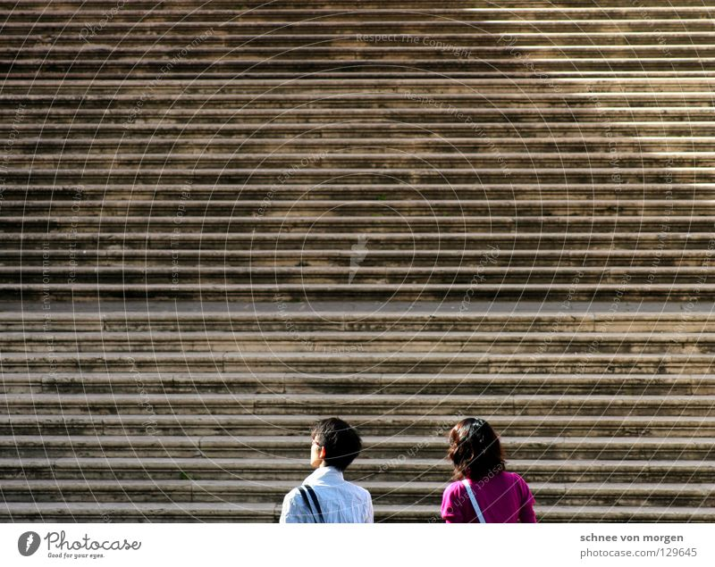 wegbereitend Italien gehen Sightseeing Tourist Verkehrswege Wege & Pfade Mensch laufen Blick Treppe
