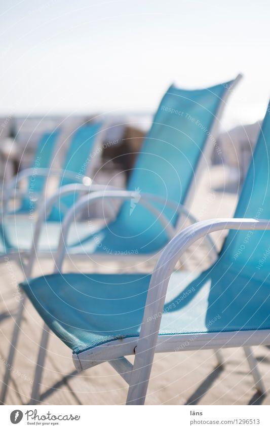 lichter moment Himmel Ferien & Urlaub & Reisen Sommer Strand Stuhl