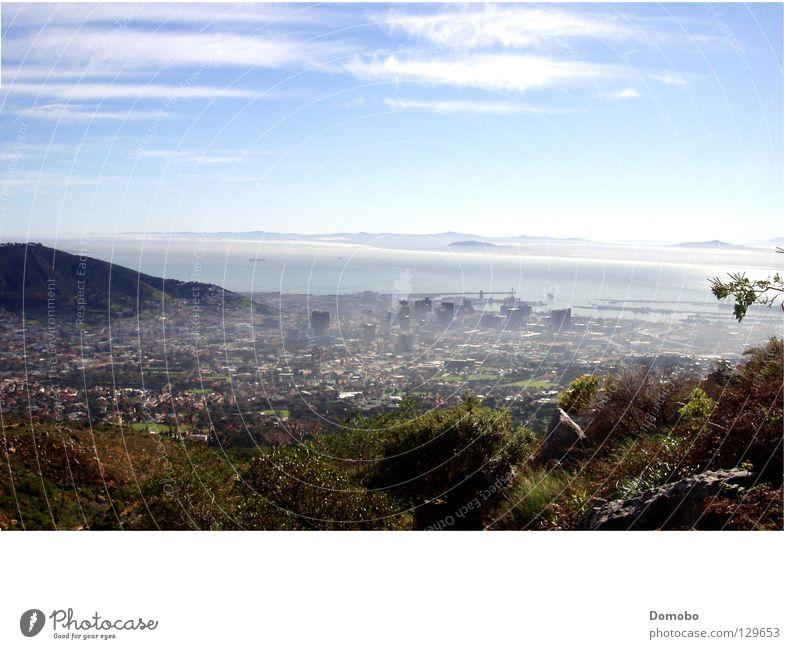 Kapstadt von oben Meer Stadt Berge u. Gebirge Nebel Aussicht Afrika Bucht Südafrika