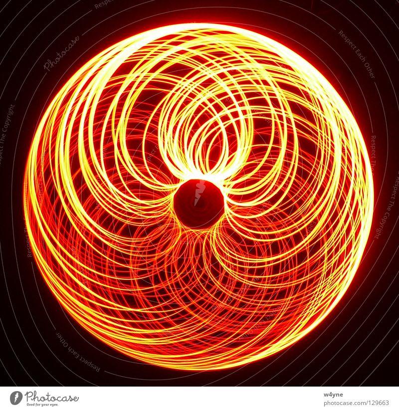 [Order To Chaos] Serie III Langzeitbelichtung rot gelb Spirale abstrakt rund Wellen Muster schwarz unordentlich Elektrisches Gerät Technik & Technologie Angst