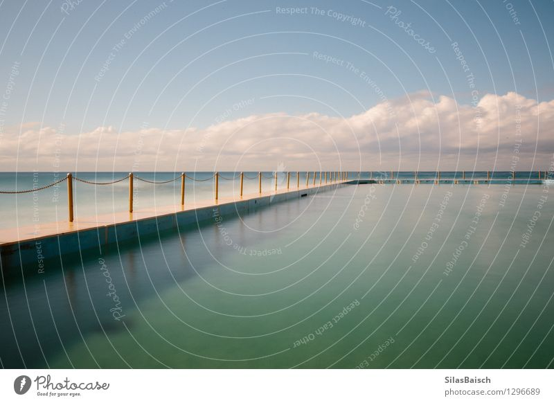 Pool II Natur blau schön Wasser Meer Wolken Freude Strand Küste Sport Schwimmen & Baden Lifestyle Design elegant Wellen Erfolg