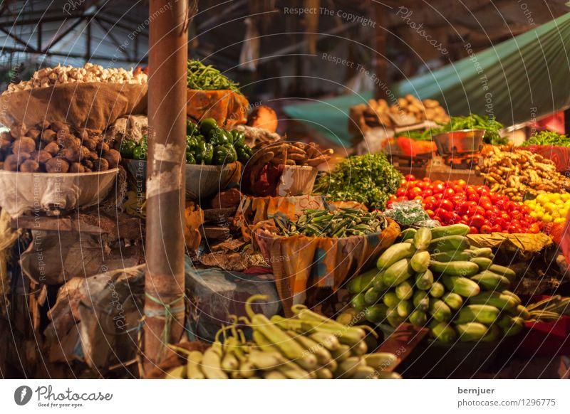 Gemüse Lebensmittel Salat Salatbeilage Frucht Ernährung Bioprodukte Vegetarische Ernährung Asiatische Küche Billig gut authentisch Markt Marktstand Kartoffeln