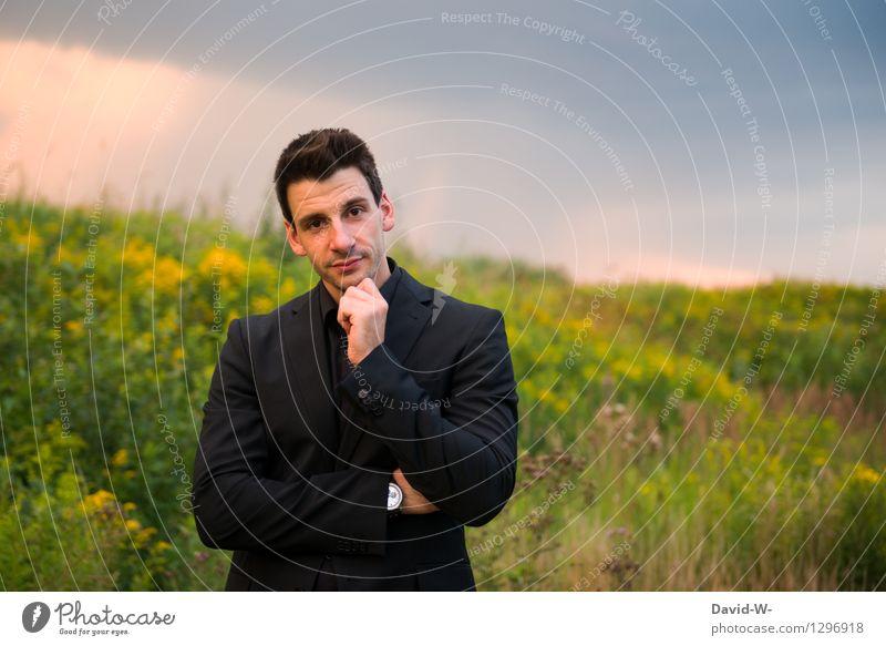sympathisch Lifestyle elegant Mensch maskulin Junger Mann Jugendliche Erwachsene Leben 1 18-30 Jahre Lächeln Freundlichkeit niedlich schön attraktiv positiv