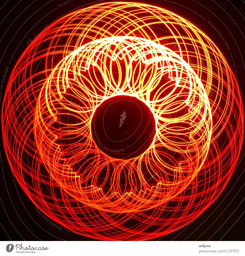 [Order To Chaos] Serie IV rot schwarz gelb Wellen Kreis Ordnung Technik & Technologie rund Vertrauen Spirale Leuchtdiode Elektrisches Gerät