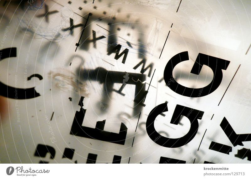 typo pichnette II Typographie Buchstaben schwarz Design gestalten abstrakt Schriftzeichen durchsichtig G E K Abreibbuchstaben Lateinisches Alphabet schreiben