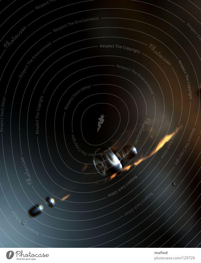 A Space Odyssey Komet Asteroid Schwanz glühen Reibung Geschwindigkeit Sternschnuppe Meteor schwarz grau gelb Reflexion & Spiegelung Stahl