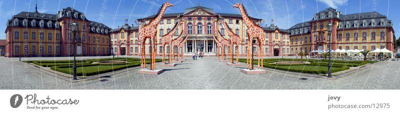 Barockschloss Bruchsal Panorama Panorama (Aussicht) Ausstellung Messe bruchsal Burg oder Schloss Teatro Museo Dalí Giraffe groß Panorama (Bildformat)