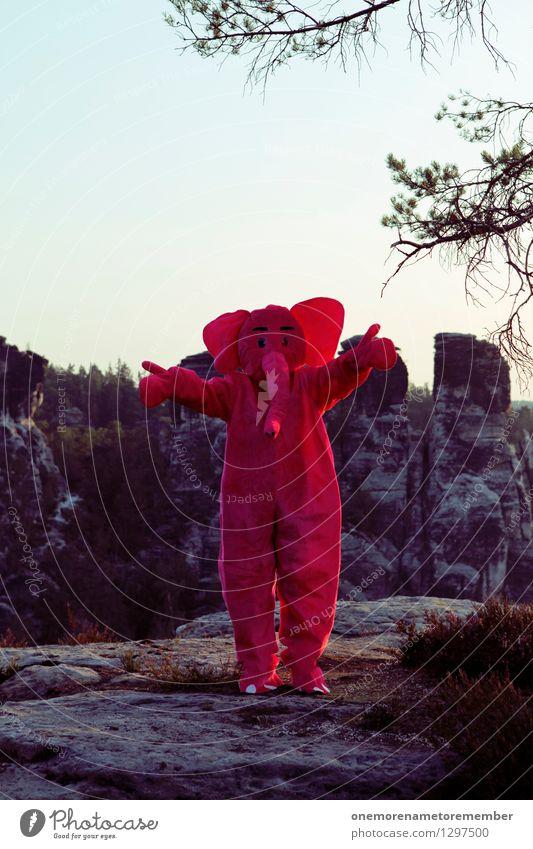 WÄHLT MICH! Freude lustig Kunst Felsen rosa ästhetisch weich Abenteuer Ohr Kunstwerk Karnevalskostüm Elefant spaßig Wahlen Spaßvogel verkleidet