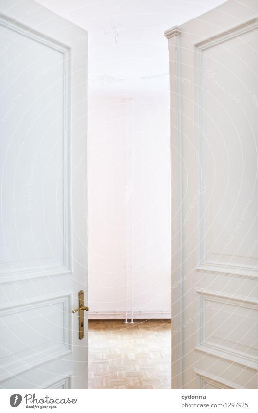 Neuanfang Lifestyle elegant Häusliches Leben Wohnung Umzug (Wohnungswechsel) Innenarchitektur Raum Mauer Wand Tür Beginn Beratung entdecken Erwartung Idee