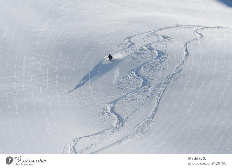 Powder Party Panorama (Aussicht) Winter See Bundesland Tirol Ischgl Österreich weiß Tiefschnee Seilbahn Skilift Skifahrer Skifahren Snowboarder Snowboarding