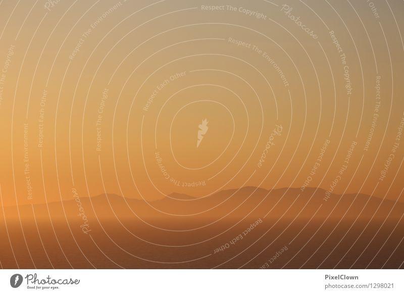 Sonnenuntergang auf den Kykladen Himmel Natur Ferien & Urlaub & Reisen schön Erholung Meer Landschaft ruhig Strand Gefühle Schwimmen & Baden Lifestyle Kunst