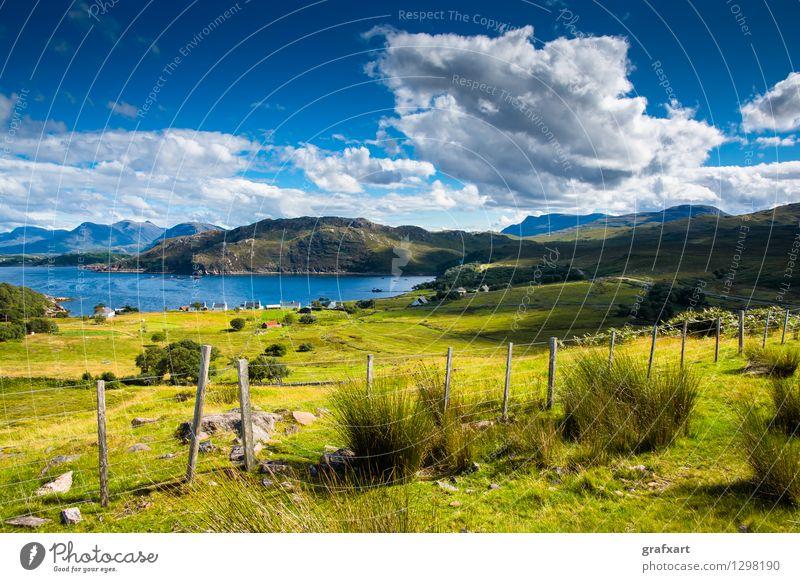 Isle of Skye in Schottland Ferien & Urlaub & Reisen Tourismus Freiheit Sommerurlaub Umwelt Natur Landschaft Himmel Wolken Schönes Wetter Wiese Hügel Küste