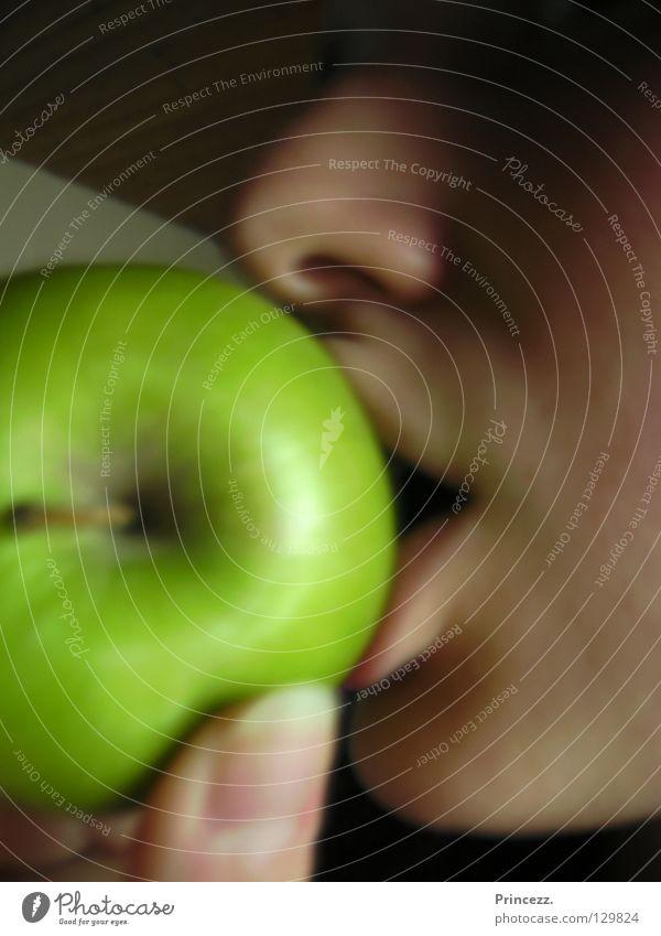 Grüner Apfel grün Ernährung Essen Frucht Duft genießen Prinzessin Feinschmecker