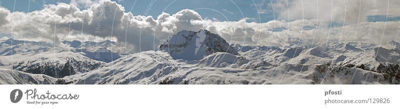 Ich mag Berge... Himmel blau Ferien & Urlaub & Reisen Baum Sonne Winter Wolken ruhig Berge u. Gebirge Schnee Wärme Wege & Pfade gehen Freizeit & Hobby groß wandern