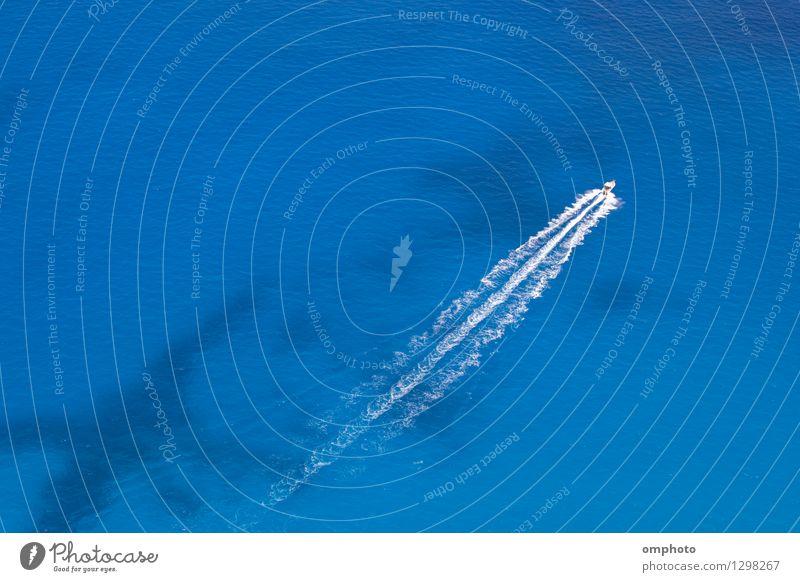 Ferien & Urlaub & Reisen blau Sommer weiß Meer Wasserfahrzeug Aktion Verkehr Aussicht Geschwindigkeit Sauberkeit türkis fliegend diagonal Oberfläche Segel
