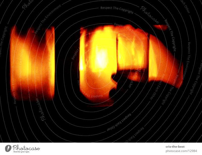 Kamin rot Glas Brand gemütlich Fototechnik