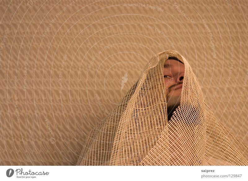 Verhüllung Mann beobachten bedecken verpackt Scheich