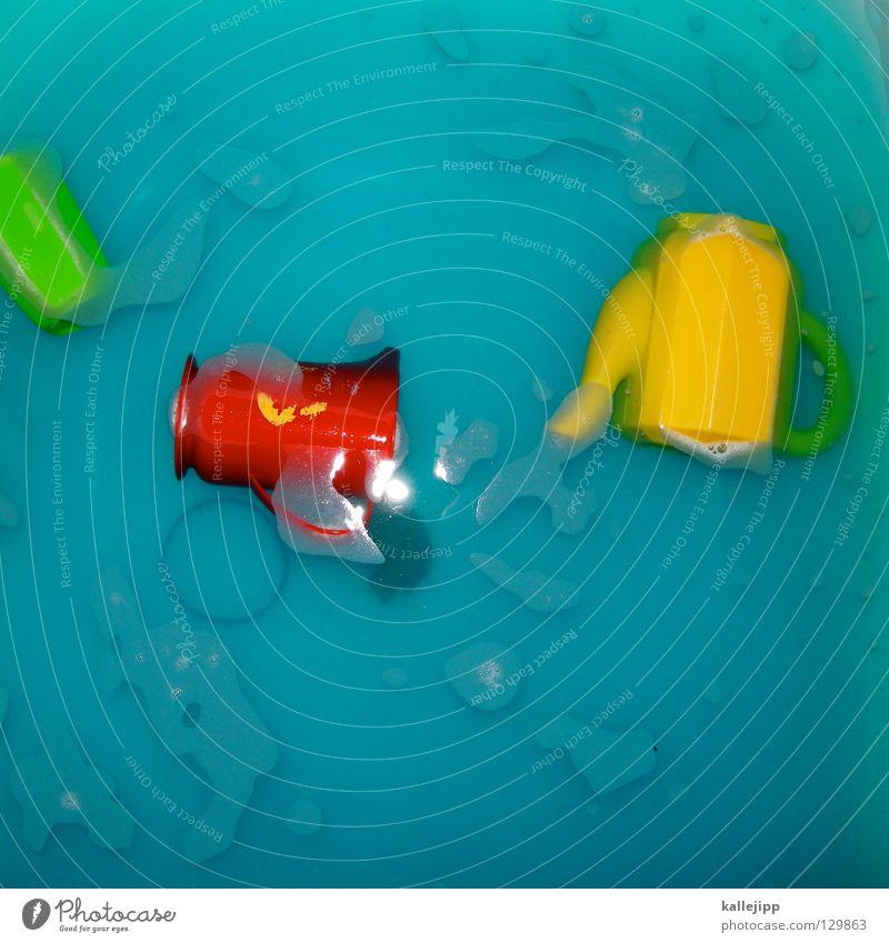 rgb Wasser grün rot Freude gelb Spielen Bad Spielzeug Kindheit Geschirr Statue türkis Tasse Schaum Becher Kannen