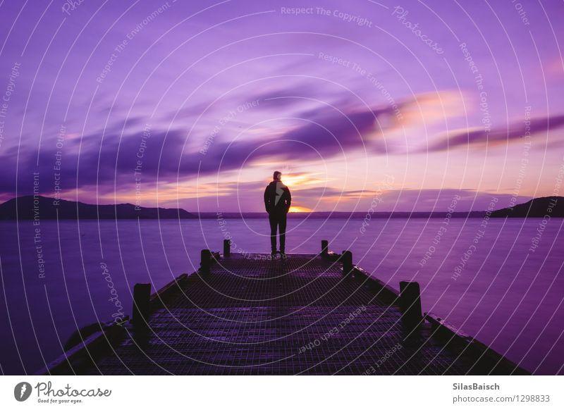 Paradies Neuseeland Mensch Natur Ferien & Urlaub & Reisen Jugendliche Mann schön Sommer Meer Landschaft Ferne 18-30 Jahre Erwachsene Berge u. Gebirge Gesundheit