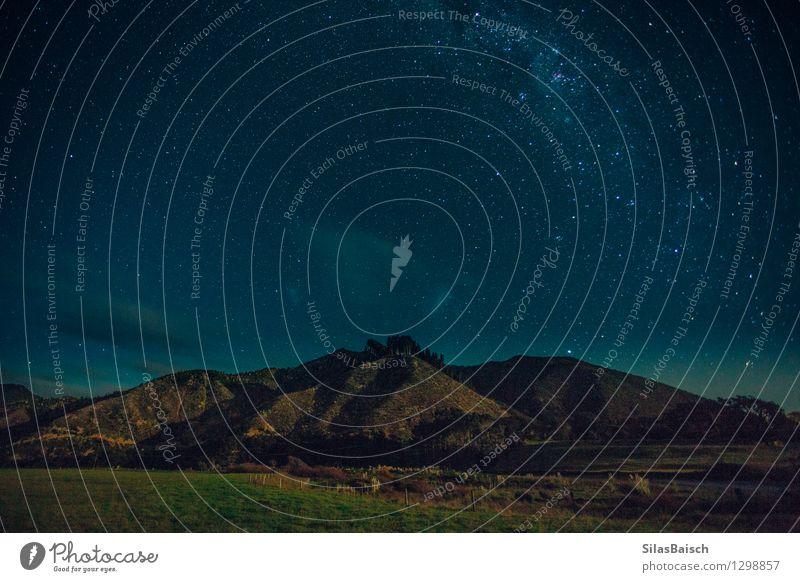 Milkyway über die Berge Himmel Natur Ferien & Urlaub & Reisen Landschaft Ferne Berge u. Gebirge Umwelt Freiheit Kunst Felsen Horizont Tourismus Feld Ausflug