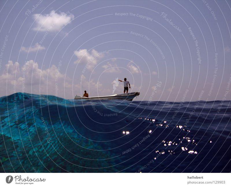 Malediven Water 15 Wasser Meer tauchen Unterwasseraufnahme Wassersport Riff Schnorcheln