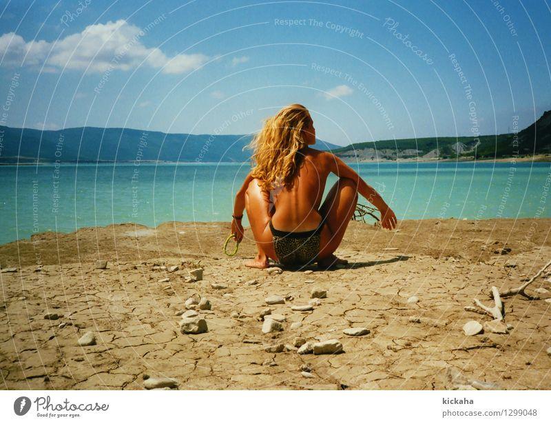 Ein schöner Rücken.... Ferien & Urlaub & Reisen Sommer Sonne feminin Erwachsene Körper Gesäß 1 Mensch 18-30 Jahre Jugendliche Landschaft Erde Wasser Himmel
