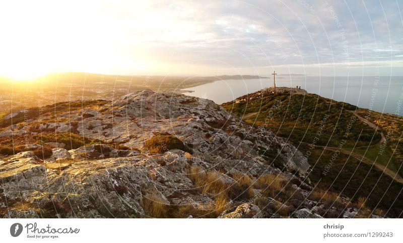 Bray Head Umwelt Natur Landschaft Erde Sand Wasser Himmel Wolken Horizont Sonne Sonnenaufgang Sonnenuntergang Sonnenlicht Schönes Wetter Hügel Felsen