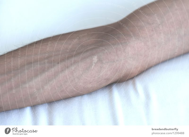 Arm Mensch nackt maskulin authentisch Arme nah dünn Gefäße
