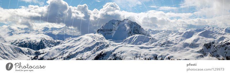 Ich mag Berge...II Himmel Ferien & Urlaub & Reisen blau ruhig Wolken Winter Berge u. Gebirge Wärme Wege & Pfade Schnee gehen Freizeit & Hobby Aktion wandern