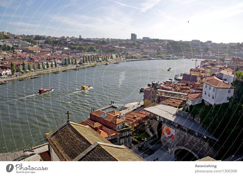 Porto III Natur Stadt blau Baum Haus Fenster Reisefotografie Umwelt hell Horizont Wetter Verkehr Hochhaus groß Schönes Wetter Dach
