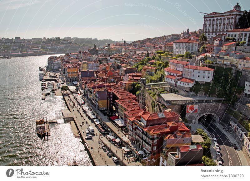 Porto IV Himmel Natur Stadt Pflanze blau Sommer Wasser rot Haus Fenster Umwelt Straße hell Fassade Horizont Wetter