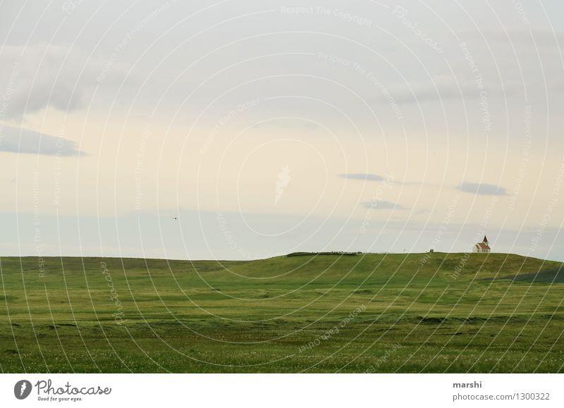 Islands Weite Natur Landschaft Pflanze Tier Erde Luft Himmel Wolken Sommer Klima Wetter Hügel Berge u. Gebirge Vulkan Stimmung Religion & Glaube Ferne Freiheit