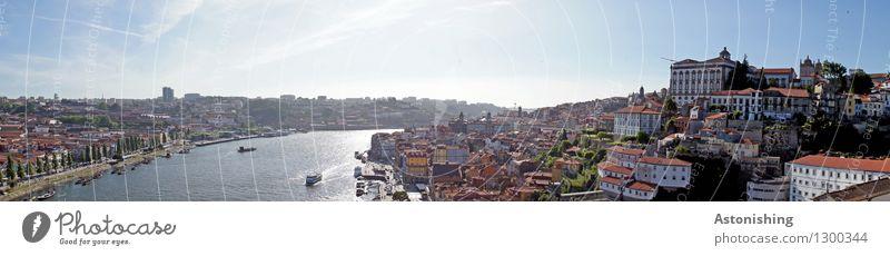 Porto VI Himmel Stadt blau Sommer Haus Fenster Umwelt Wand Straße Wärme Küste Mauer hell Horizont Wetter Verkehr