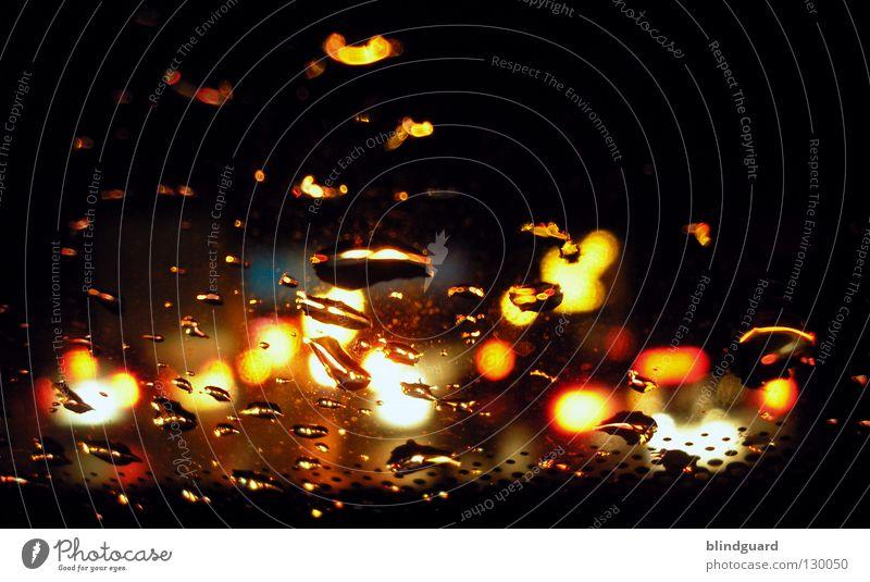 Take A Last Look Wasser weiß rot Ferien & Urlaub & Reisen gelb Straße Lampe dunkel Bewegung grau PKW Regen Linie hell Wassertropfen Verkehr