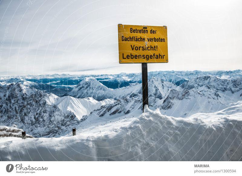 wondervoll winter day on the Zugspitze Natur Ferien & Urlaub & Reisen weiß Sonne Landschaft Wolken Winter kalt Berge u. Gebirge Freiheit Stein Deutschland