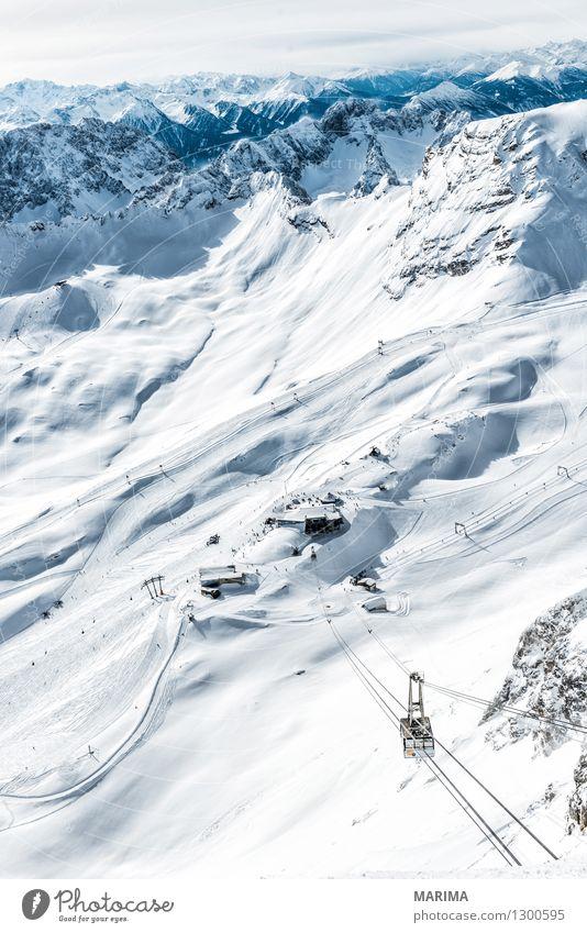 wondervoll winter day on the Zugspitze Natur Ferien & Urlaub & Reisen weiß Sonne Landschaft Wolken Winter kalt Berge u. Gebirge Freiheit Stein Deutschland Felsen Tourismus Europa Alpen