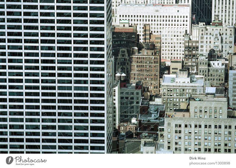 Manhattan III Hauptstadt Stadtzentrum überbevölkert Haus Hochhaus Bankgebäude Bauwerk Gebäude Architektur Fassade Fenster hoch Konkurrenz Konzentration USA