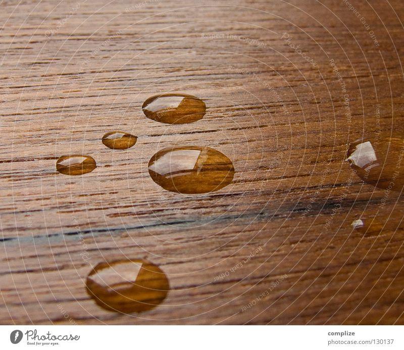 dropped II nass Holz spritzen Teak Siebziger Jahre Sechziger Jahre Design braun frisch Wasserspritzer weich Schwimmbad Kreis rund Reinigen feucht sehr wenige 7