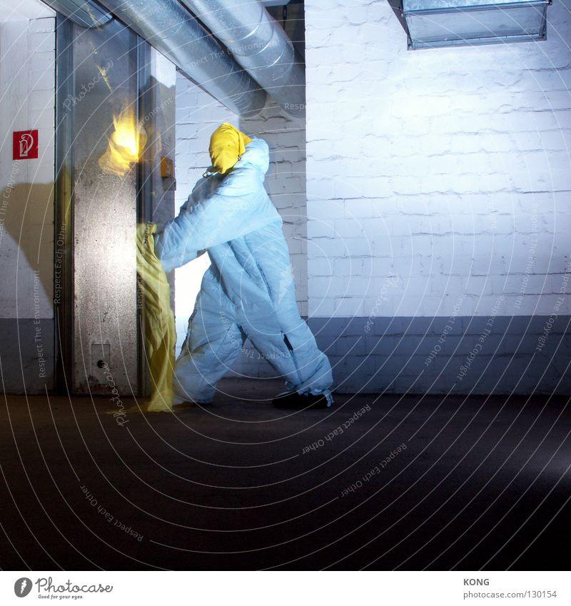 ignite gelb grau springen fliegen laufen Brand Geschwindigkeit gefährlich Luftverkehr Technik & Technologie Asphalt Maske Wut Röhren Anzug brennen