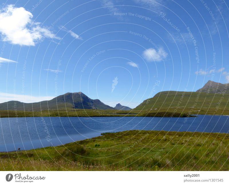 blue nature... Natur Landschaft Himmel Sonnenlicht Sommer Schönes Wetter Berge u. Gebirge See Unendlichkeit maritim blau Einsamkeit Erholung Freiheit