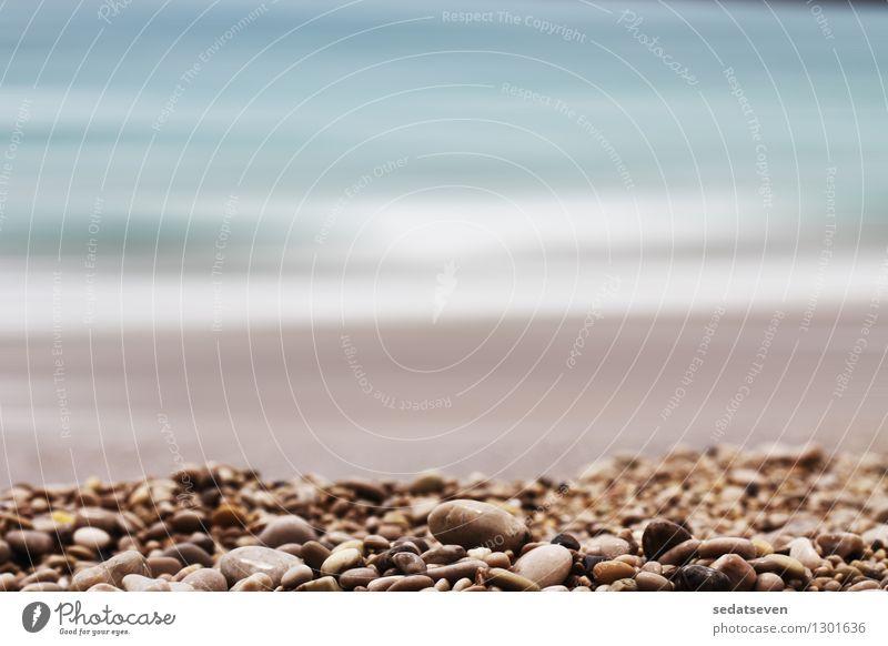 Kies Schärfentiefe Hintergrund Design Erholung Ferien & Urlaub & Reisen Sommer Strand Meer Dekoration & Verzierung Natur Landschaft Himmel Felsen Küste Stein