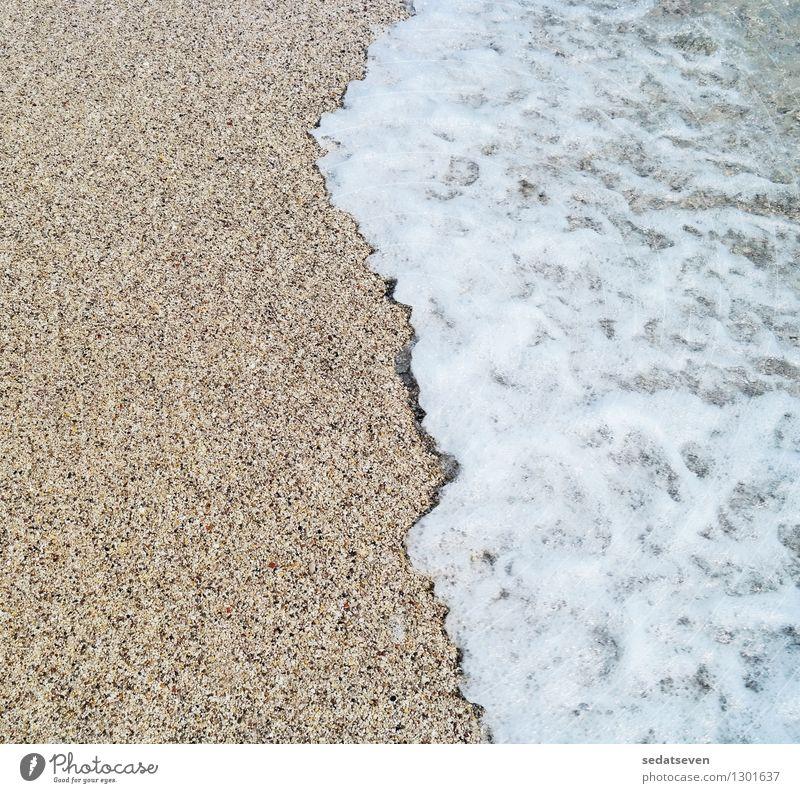 Meereswelle und Sandstrand Natur Ferien & Urlaub & Reisen Sommer Erholung Landschaft Strand gelb natürlich Küste Freizeit & Hobby Tourismus gold Sauberkeit heiß