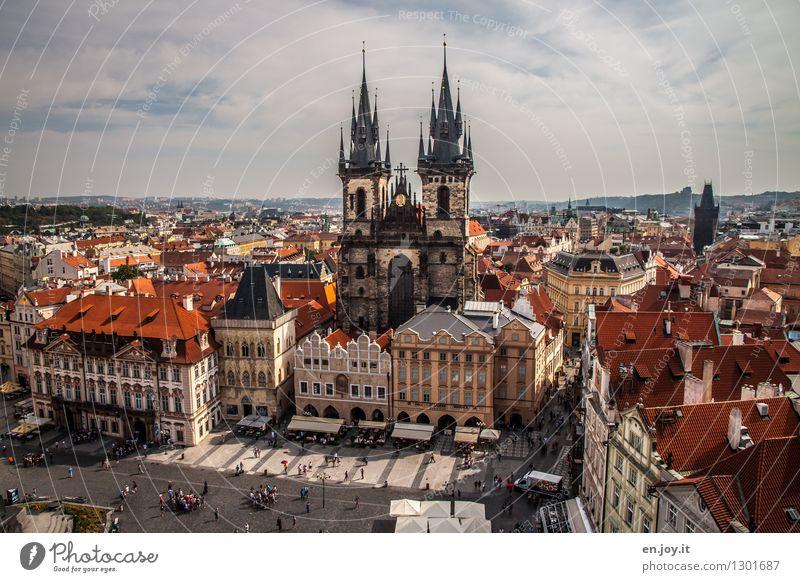 Altstädter Ring Ferien & Urlaub & Reisen Tourismus Ausflug Ferne Sightseeing Städtereise Sommer Sommerurlaub Himmel Horizont Schönes Wetter Prag Tschechien